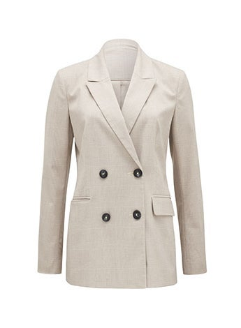 Mahalia Brown Check Blazer