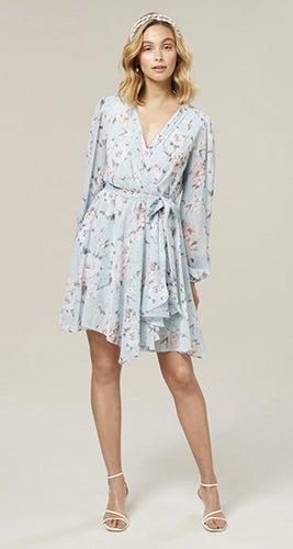 Mariana Wrap Hanky Hem Dress