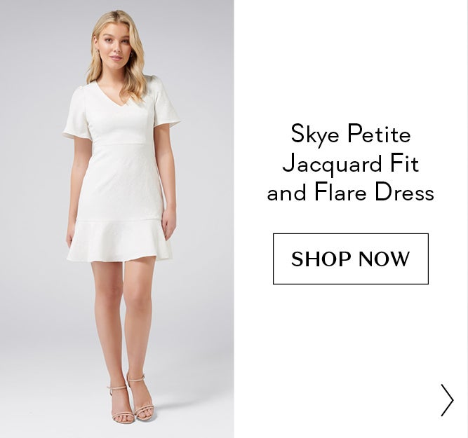 Skye Petite Jacquard Fit and Flare Dress