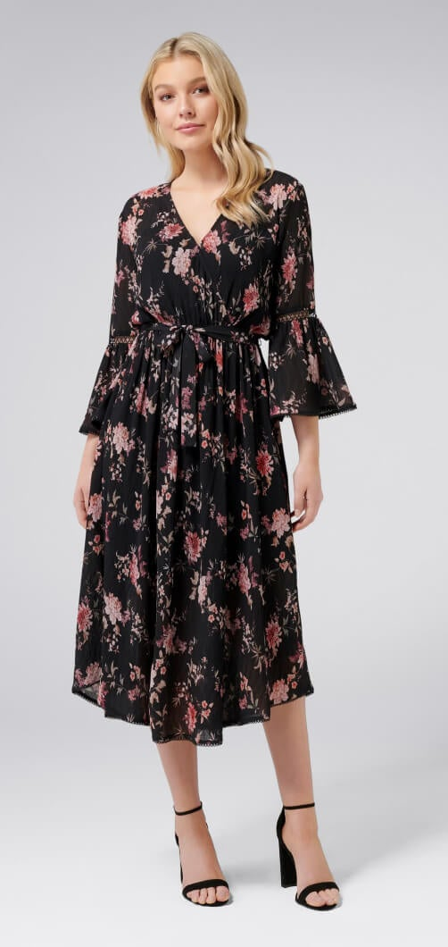 Lenora Printed Wrap Dress