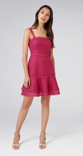 Poppy Flippy Lace Mini Dress